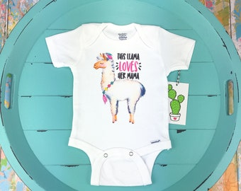 Llama Onesie, Mom Onesie, Funny Baby Onesie, Llama Gift, Llama Shirt, New Mom Gift, Toddler Girl Shirt, Llama Baby Shower, Mom Onesie