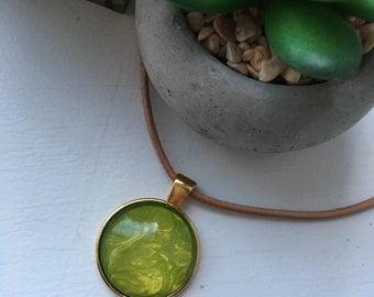 Green Painted Pendant