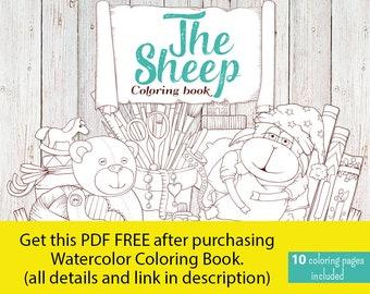 "Digital coloring book ""The Sheep"". Coloring book 8.5'' x 8.5''"