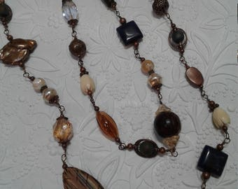 Lapis and copper necklace