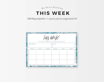 This Week - Weekly Planning Printable (Spiffy Blue)