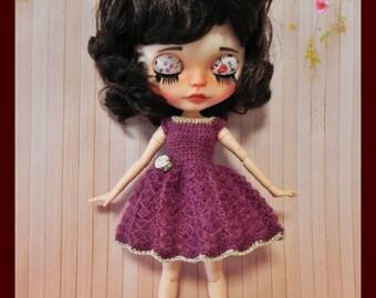 Mohair dress for Blythe doll