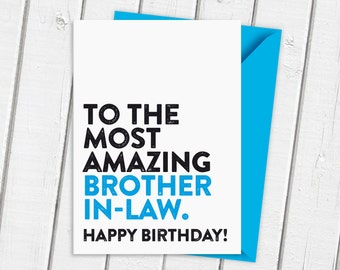 Best man gift wedding thank you the only thing better than the most amazing brother in law card family card birthday card bookmarktalkfo Choice Image