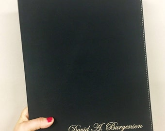 Laser Engraved Portfolio - Great for Professional Individuals/Gifts - Name only