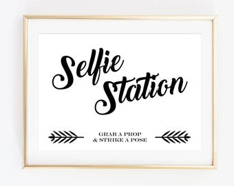It's just a photo of Unusual Selfie Station Sign Free Printable