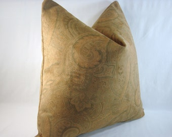 Paisley Suede Pillow Suede Pillow Paisley Pillow 20x20 Cover