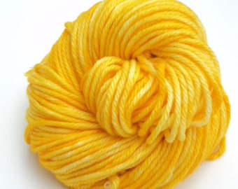 Saffron, Hand Dyed, Bulky, Yarn, Yellow