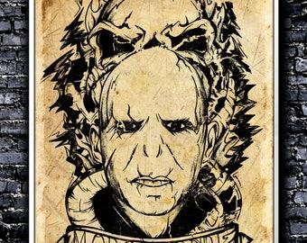 Vintage Morsmordre - A4 Signed Art Print (Inspired by Harry Potter)