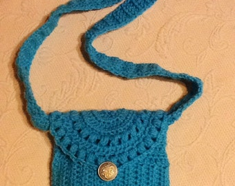 Little Girls Turquoise Purse