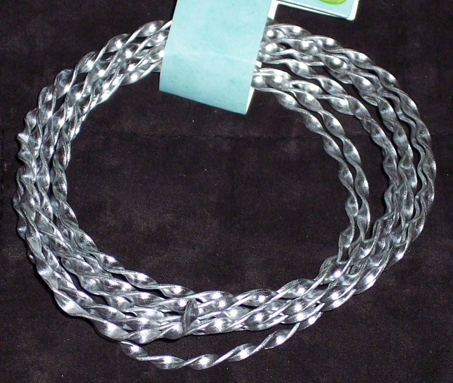 Twisted silver aluminum craft wire,3MM wide,7 feet,jewelry making ...
