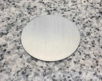 MAGNETIC 1 1/2'' (38mm) Round Disc Blank, 22g Stainless Steel - LMR12