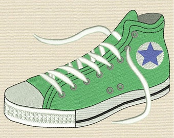 """Converse  Machine embroidery designs - 4""""x 4"""",  5"""" x 7"""", 6"""" x 10""""  Hoop sizes - # 02"""