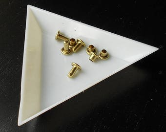 4 double rivets CAP to be brass - 5 x 3 mm - T2