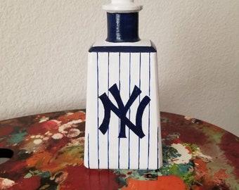 New York Yankees Hand Painted Bottle