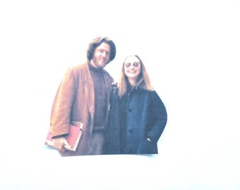Young Hillary and Bill Clinton Sticker