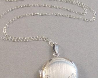 Claire,Vintage Locket,Sterling Silver Locket,Vintage Sterling,Locket,Vintage,Necklace,Silver Locket,OOAK Sterling Silver Locket,Wedding,