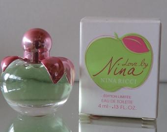 Love by Nina Ricci - FULL - Miniature perfume bottle - Eau de Toilette Parfum-
