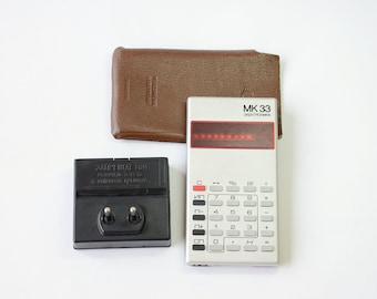 Vintage Old Electronic Soviet Russian USSR Calculator ELEKTRONIKA MK 33