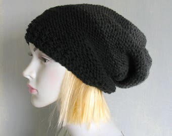 Grey womens hat women slouchy beanie winter hat women slouchy hat slouchy knit hat slouchy beanie hat women knit slouchy hat