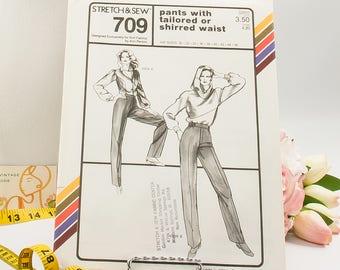 Tailored Pants  - Pattern 709  - Vintage Sewing Pattern  - Vintage Stretch & Sew Pattern  - 1980 Pattern  - Ann Person