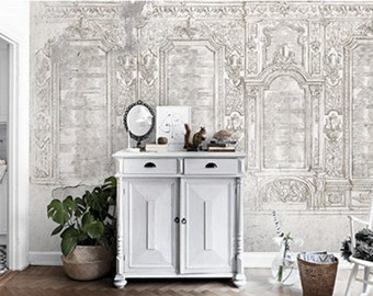 Versailles Palace Wallpaper Hall of Mirrors Wall Mural Shabby Luxury Architecture Vintage Paris Fine Art French Rustic Wall Decor