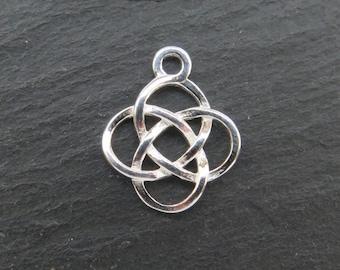 Sterling Silver Celtic Pendant 14.5mm