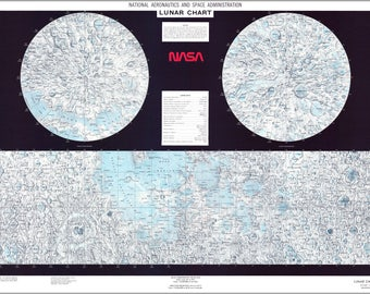 Poster, Many Sizes Available; Lunar Moon Map 1979