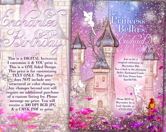 Fairy Princess Party Invitation, Birthday Party Invitations, Fairy Princess Invitations, Princess Party, Princess Carriage Invitation