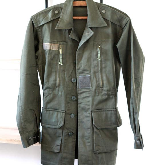 Vintage Military Jacket R5YBB6iL