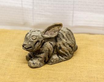 Rabbit Carnival Prize Edwardian Era Paper Mache Rare