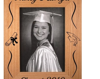 Personalized Graduation Picture Frame,Alder Wood Picture Frame