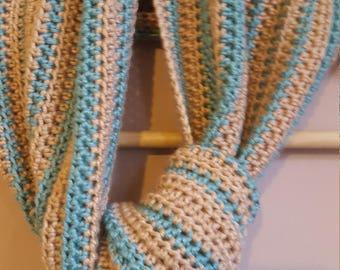 Crochet pattern download for elegant luxury women's long line scarf
