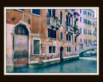 Venice Italy Art Print, Venice Photography, Travel Photography, Cottage Chic Wall Art, Pastel Home Decor