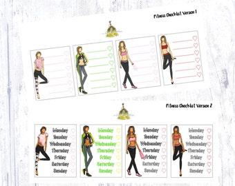Fitness Checklist Sidebar Sticker Set