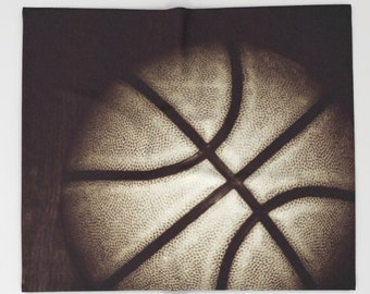 Basketball Fleece Blanket-Sofa Blanket-Black & White Blanket-Large Throw-Soft Blanket-Bed Blanket-Coral Fleece-Boys/Girls Bedroom Decor
