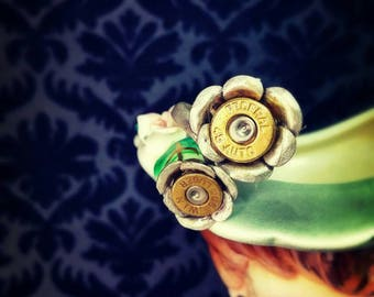 Rita Bullet Jewelry Bullet Ring Bullet Flower Federal 45 Auto with Winchester 9mm or Blazer 45 Auto with CBC 9mm