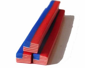 1 x cane polymer clay flag USA