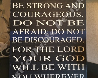 Do not be afraid | Law Enforcement | LEO Signs | Police Signs | Officer Signs | Deputy Signs | Thin Blue Line
