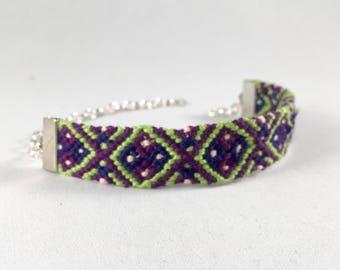"Hand-Woven Friendship Bracelet ""Diamondback"""