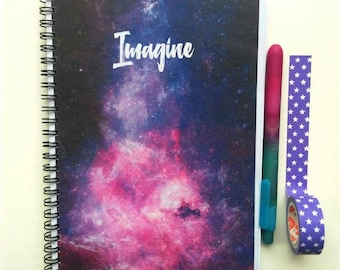 Imagine Galaxy A5 Lined Notebook, Space Themed Stationery