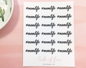 18 Hashtag Momlife Stickers | Word Stickers