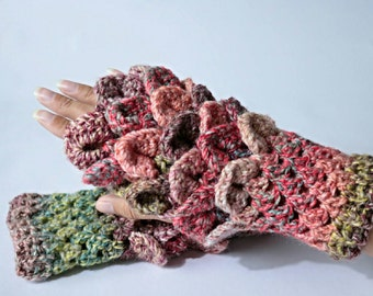 Fingerless gloves. Wrist warmer gloves. Pixie, fairy, crochet fingerless gloves.
