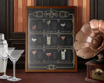 1920s Cocktails Print