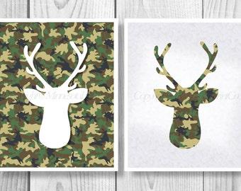 Deer Head Printable, Deer Download Print, Deer Decor Digital Download,Deer, Deer Digital Download, Cabin Decor, Deer, Stag Head 0087
