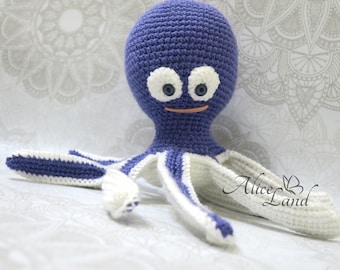 Handmade Octopus, Crochet Octopus, Stuffed Animal, Octopus Amigurumi, Plush Animal,