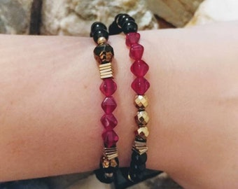Lavinia Ruby Red Bracelet Set