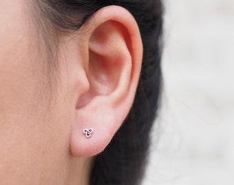 Tiny Triangle celtic stud Earrings, Celtic Jewelry