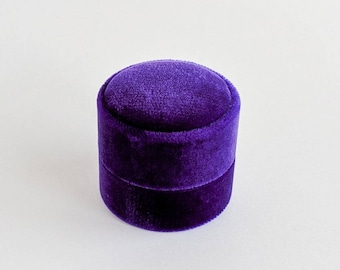New! Double Ring Box - Ultra Violet, Pantone Color of the Year 2018