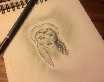 Hand sketched Arabian princess