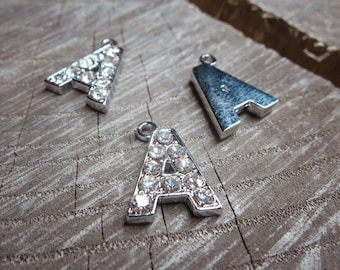 Letter A Pendant Charms ~1 pieces #100589